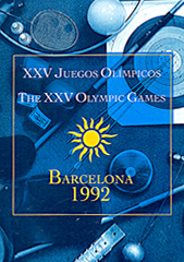 Folleto del equipoolímpico finlandésSuomen olympiajoukkueenesittelylehti Barcelona 1992Brochure of the Finnish Olympic Team
