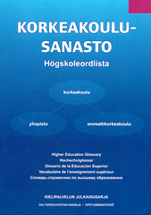 Glosario de laEducación SuperiorKorkeakoulusanastoHigher Education Glossary
