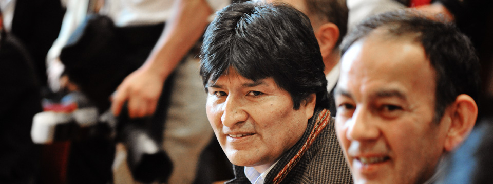With Bolivian President Evo Morales